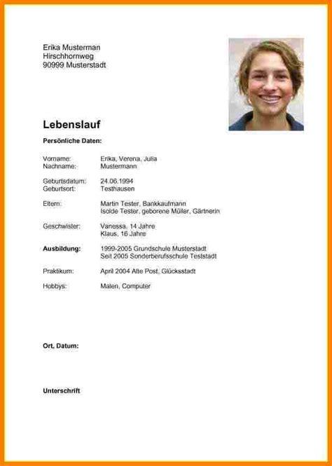 Lebenslauf Muster Ausbildung Word by 21 Lebenslauf Word Freyajacklin