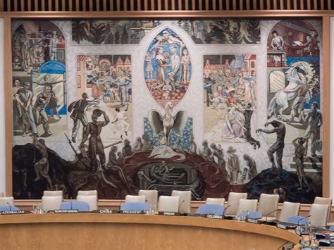 Un Security Council Chamber Mural The Mural Is Painted
