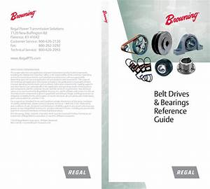 Belt Drives  U0026 Bearings Reference Guide