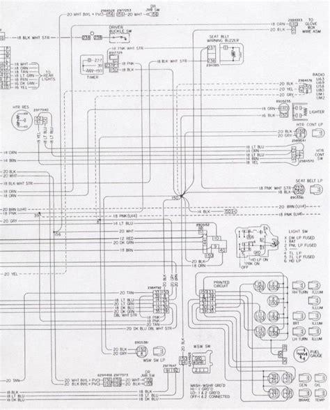 Camaro Dash Cluster Interior Wiring Schematic