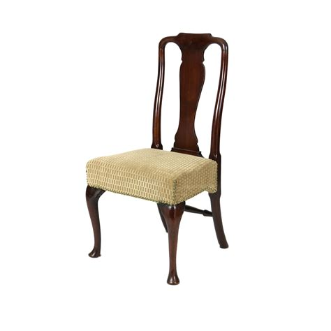 18th century walnut dining chair with legs