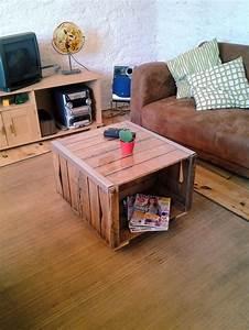 Table Basse Caisse Bois : table basse recup anciennes caisses meubles et rangements par palette et co projets ~ Nature-et-papiers.com Idées de Décoration