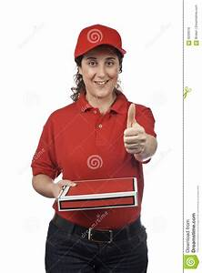 Pizza Delivery Woman Royalty Free Stock Image - Image: 6259516