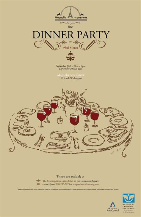 The Dinner Party  Play By Neil Simon, Poster By Inna
