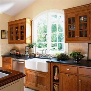 natural cherry kitchen contemporary with vaulted ceiling With kitchen cabinets lowes with natural wood art wall decor