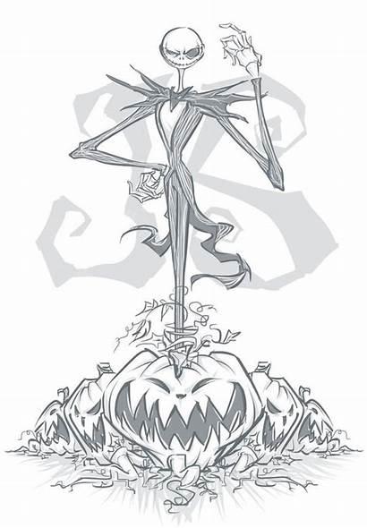 Skellington Jack Nightmare Christmas Before Drawing Deviantart