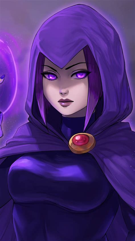 wallpaper teen titans purple hair girl dc comics