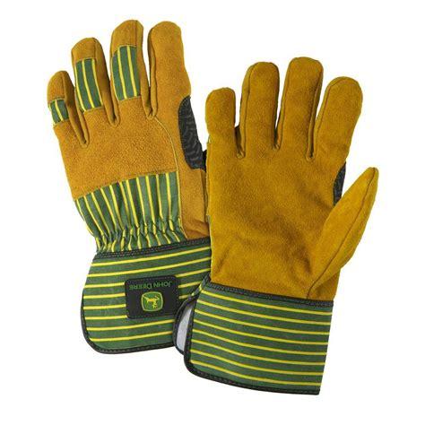 Split Cowhide Leather by Deere Split Cowhide Large Leather Palm Gloves Jd00005