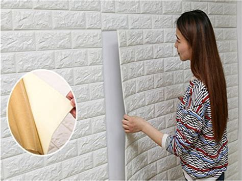 18pcs 27x30 Inch 3d Brick Pe Foam Diy Wall Sticker Self