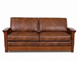 comfort design palmer sleeper sofa cl7023dqsl usa made With leather sectional sofa with sleeper and recliner