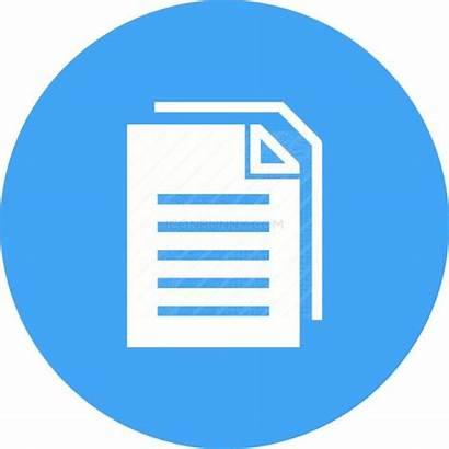 Icon Documents Flat Ujian Round Icons Nomor