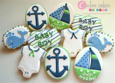 Nautical Baby Shower Decorations For Home: Nautical Baby Shower - Custom Cookies By Jill