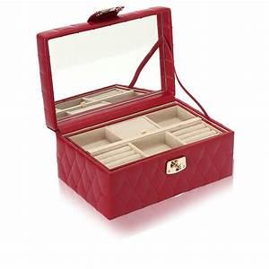 Boite A Bijoux : petite boite bijoux cuir rouge caroline wolf ocarat ~ Teatrodelosmanantiales.com Idées de Décoration