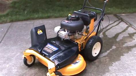 review of the 33 quot cub cadet cc 760 wide area mower youtube
