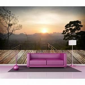 Papier Peint Geant : papier peint g ant d co paysage en montagne 250x360cm ~ Premium-room.com Idées de Décoration
