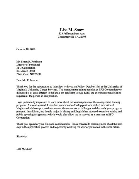 Thank You Letters For Interview  Crna Cover Letter