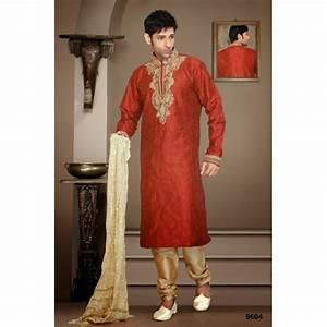 Tenue Indienne Homme : tenue indienne sherwani rouge ~ Teatrodelosmanantiales.com Idées de Décoration