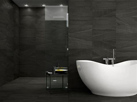 black and white bathroom tile design ideas interceramic montpellier nero porcelain tile 16 quot x 24 quot