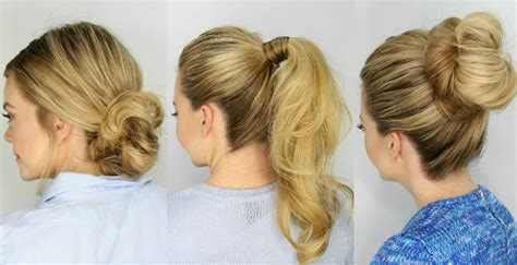 5 min hair styles 3 easy 5 minute hairstyles 6036