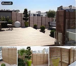 Brise Vue Pour Terrasse : brise vue en bois pour terrasse brise vue gris clair ~ Dailycaller-alerts.com Idées de Décoration