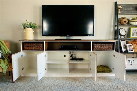 Media Cabinet by White Apothecary Media Console Diy Projects