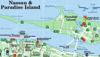 Bahamas Nassau Tourist Map