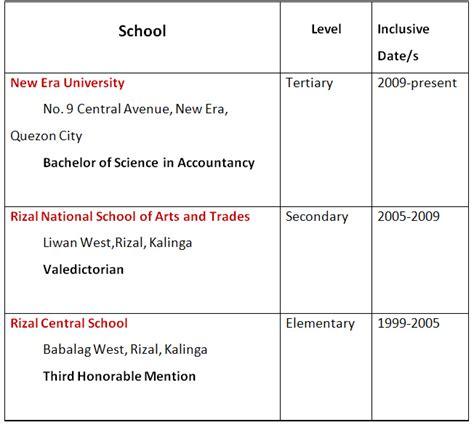 educational background  web resume