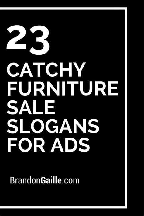 23 catchy furniture sale slogans for ads furniture sale