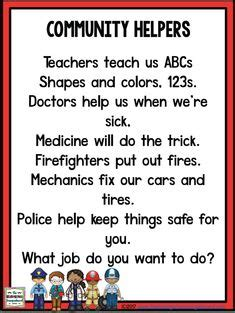 community helpers poem kindergarten kolleagues 660   773f16b6054ef1691ec86cf1e799c105