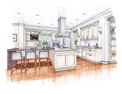 beaux arts kitchen renderings mick ricereto interior