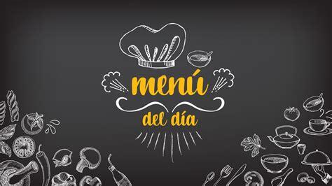 la palabra pronunciada menu semanal
