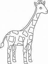 Giraffe Coloring Animal Cartoon Giraffes Drawing Simple Sheets Animals Getdrawings Printable Clipart Giraff Adult Zoo Coloringfolder sketch template