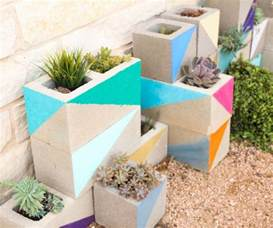 backyard wedding venues cinder block garden ideas furniture planters walls and