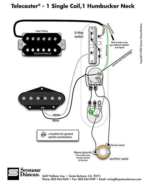 telecaster wiring diagram humbucker single coil