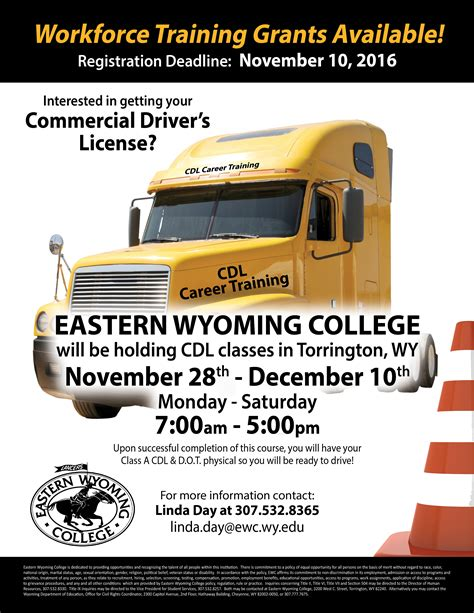ewc registrations upcoming cdl held