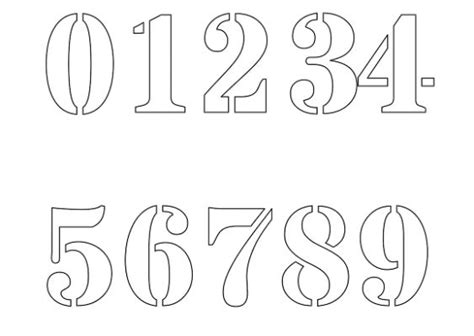 jersey font  images jersey number stencils