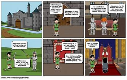Middle Ages Comic Storyboard