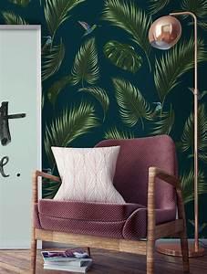 Papier Peint Bleu Canard : papier peint jungle by papermint ~ Farleysfitness.com Idées de Décoration