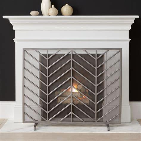 chevron fireplace screen reviews crate  barrel