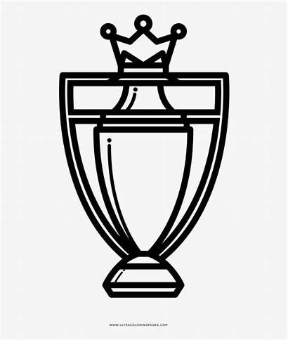 League Premier Trophy Colouring Coloring Champions Football