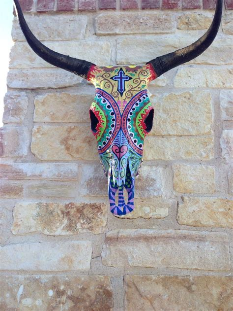 Decorated Cow Skulls by 25 Best Ideas About Painted Cow Skulls On Cow
