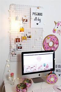Diy Deko Jugendzimmer : diy fotowand selber machen schreibtisch deko basteln ~ Watch28wear.com Haus und Dekorationen