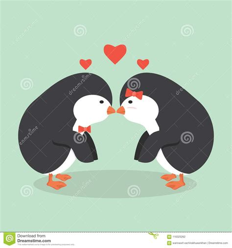 Almost files can be used for commercial. Cute Penguin animal couple stock vector. Illustration of ...
