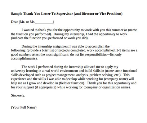 internship thank you letter 10 internship thank you letters sample templates 22569 | Simple Internship Thank You Letter