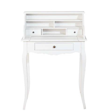 bureau secr騁aire blanc bureau secr 233 taire en bois blanc l 68 cm s 233 raphine