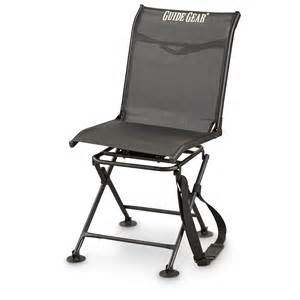 guide gear 360 176 comfort swivel blind chair black 583295