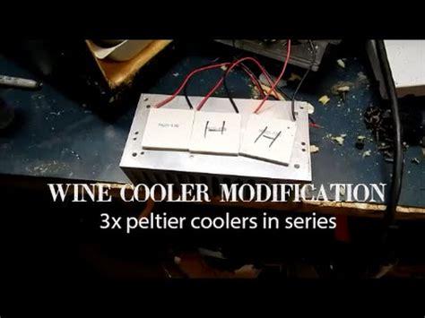 wine cooler mod  peltier cooler  series volts youtube