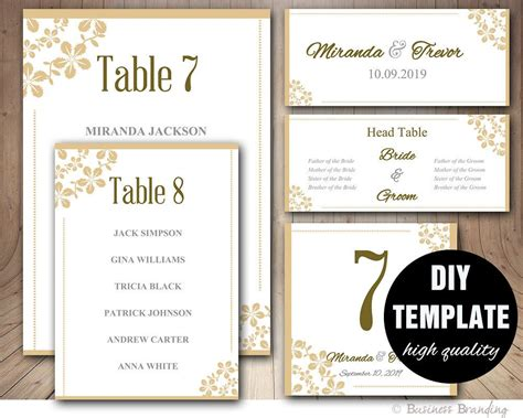 wedding seating chart template wedding place card