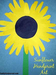 Sunflower Handprint Art Craft - Family Fun Journal