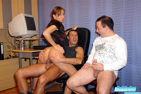 Horny Secretary Loves To Multi Task Several Guys At Once